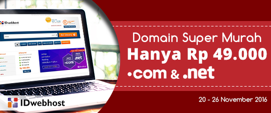 Domain Super Murah .COM .NET 49.000